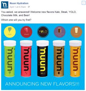 www.nuun.com nuun's new flavors